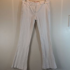Ted Baker White Pleated flared jeans